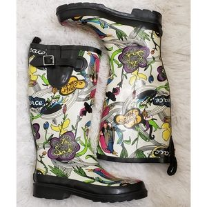 SAKROOTS - Peace and Love multicolored Rainboots